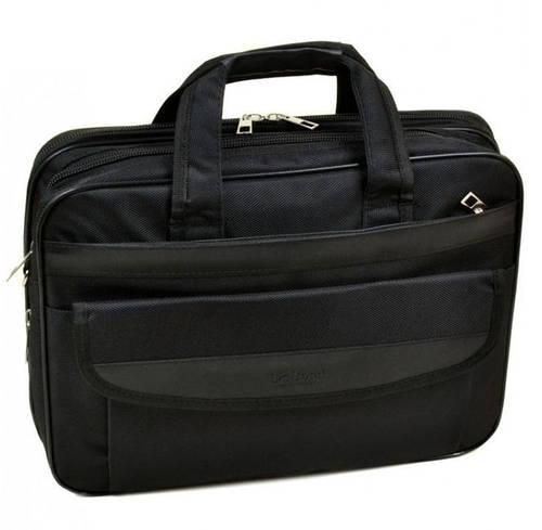"""Прочная мужская сумка для ноутбука 15"""", полиэстер dr.Bond 055 black черный"""