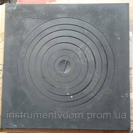 Плита печная чугунная 1-конфорочная под казан (550х550 мм)