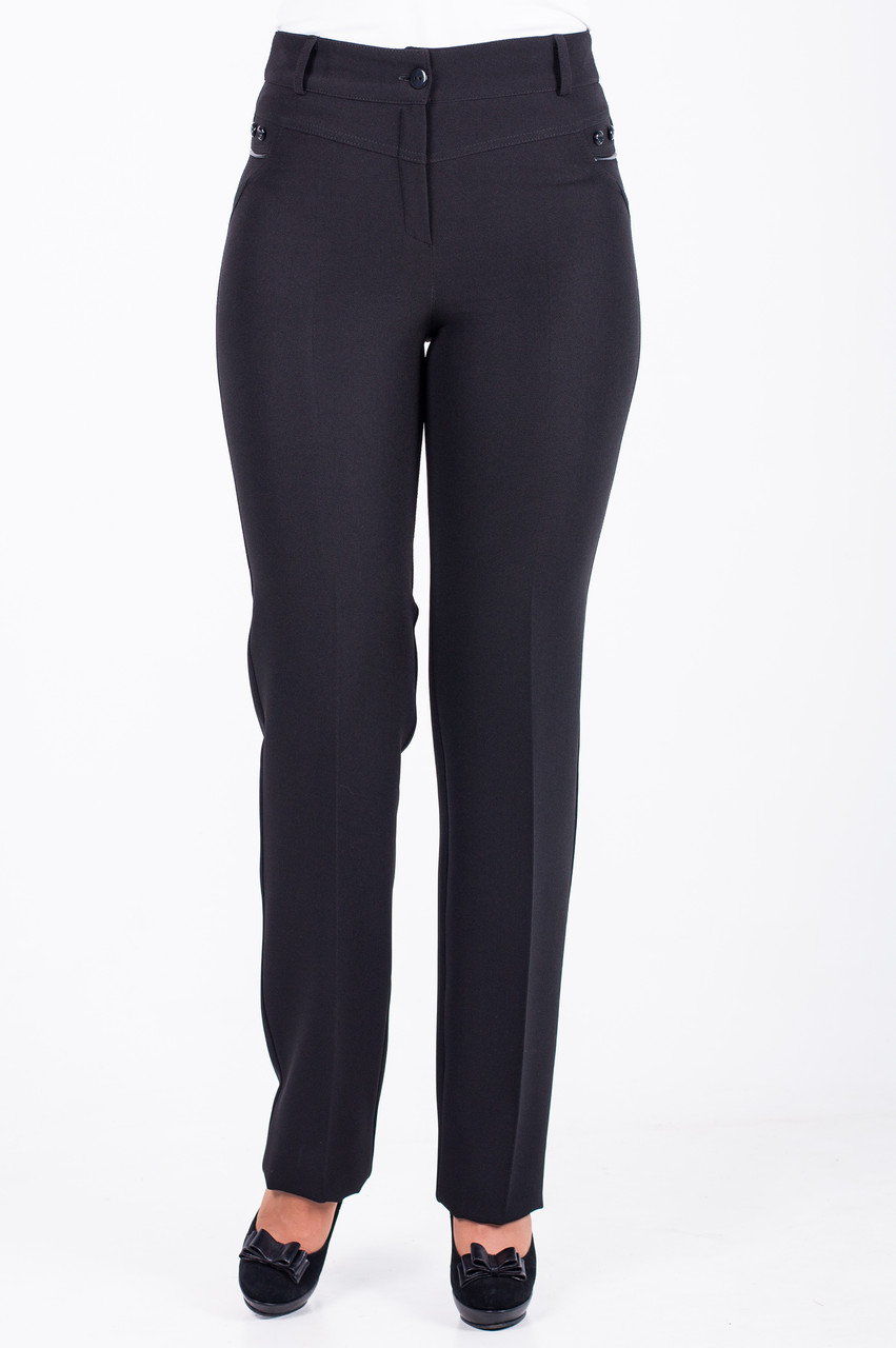 Прямые женские брюки черного цвета, Торри
