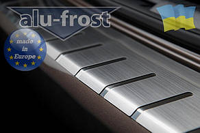 Накладка на бампер с загибом для BMW X3 II FL (F25) 2014+ (DOUBLE)