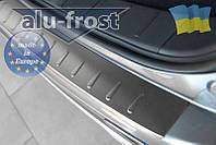 Накладка на бампер с загибом для Chevrolet Aveo I 4D 2006-2011 (MONO)