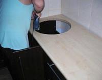 Вырезание отверстия под мойку