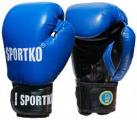 Боксерские перчатки Sportko ФБУ кожаные 12 унц