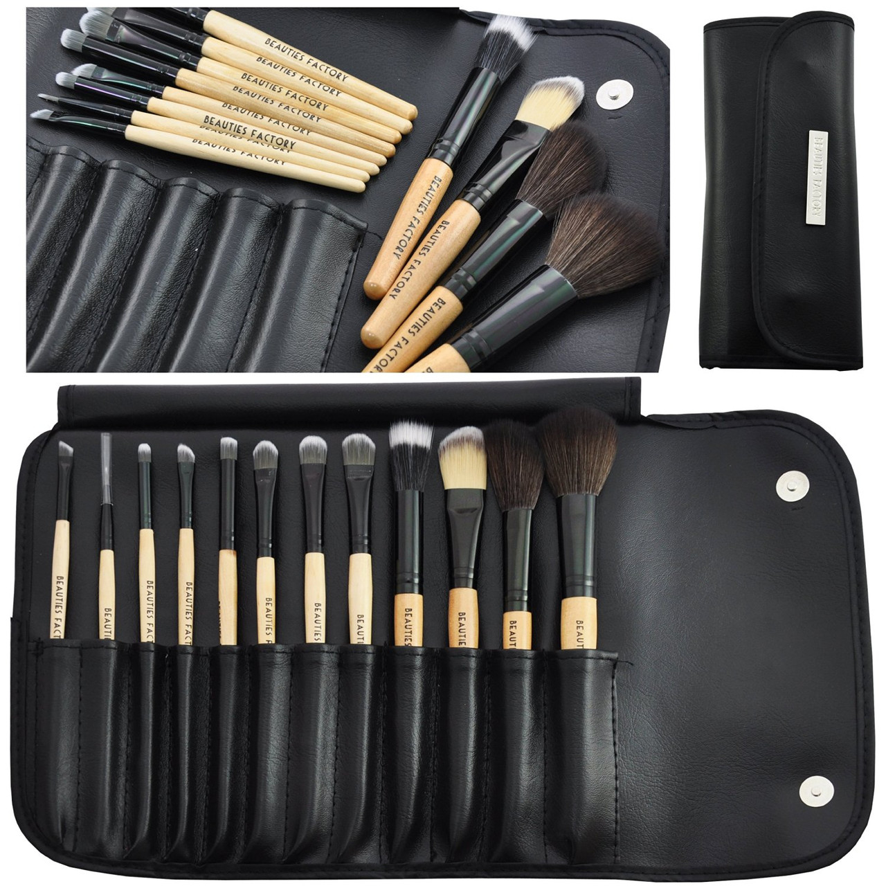 Набор из 12 кистей для макияжа Beauties Factory Makeup Brush Set (Woodland)