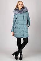Зимняя женская куртка пальто с мехом чернобурки Chanevia