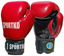 Боксерские перчатки Sportko ФБУ кожаные 12 унц.