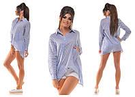 Рубашка женская  в расцветках 11855, фото 1
