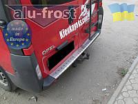 Накладка на бампер с загибом для Opel Vivaro 2001-2014, Renault Trafic, Nissan Primastar (DOUBLE)