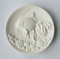 """""""Золотая рыбка"""" - декоративная тарелка для росписи с объёмным рельефом"""