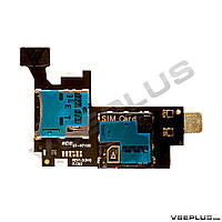 Шлейф Samsung N7100 Galaxy Note 2, с разъемом на карту памяти, с разъемом на sim карту