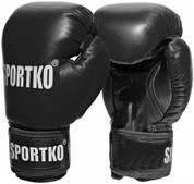 Боксерские перчатки Sportko кожвинил 12oz пд-1(черный)