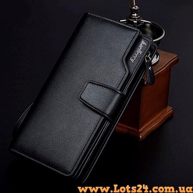 6b6ba5709e9c ... Baellerry - кожаный мужской клатч (портмоне, кошелек черный), фото 3