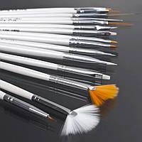 Набор кисточек для макияжа (15шт)