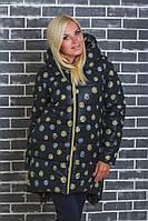Пальто зимнее с капюшоном Монеты черное