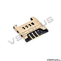 Разъем на SIM карту Samsung B5330 Galaxy Chat / C3222 Duos / C3322 Duos / C3350 Xcover 2 / C3530 / C3750