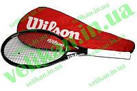 Ракетка большой теннис OS Wilson 8714 в чехле -/30