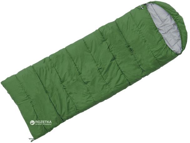 """Спальник Asleep 400 """"ковдра"""" з капюшоном лівий (L) зеленийTerra Incognita"""
