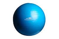 М'яч гімнастичний + насос 75 см / 4001 / голубий, жовтий, фото 1