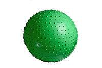М'яч гімнастичний -масажний+ насос 65 см / 4002 / зелений, салатовий, фото 1