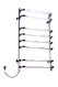 Полотенцесушитель Стандарт-8 815х480 нержавейка с регулятором температуры, фото 3