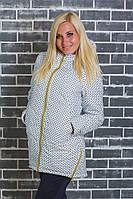 Стеганное демисезонное пальто белый горох, фото 1