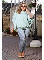 Женская туника Суфле цвет мята до 72 размера