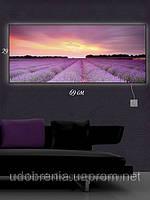 Светящаяся картина (ночник), 29х69см, Сиреневое поле, Киев