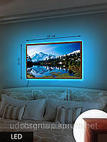 Картина с подсветкой на светодиодах, Залив среди гор