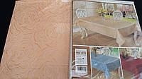 "Нарядная скатерть ""Роза"" из атласа, 150х220 см., 175/155 (цена за 1 шт. + 20 гр.)"