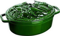 """Кастрюля Staub """"Овощи"""" овальная 29 cм 4,2 л зеленая 1172985, фото 1"""