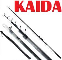 Телескопическое удилище с кольцами для рыбалки Kaida Black Cat 801-400 4 метра