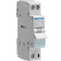 SFT140 Модульный установочный переключатель I-O-II, общая точка сверху 1P 40A 230V (Hager,Германия)