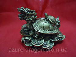 Дракон-черепаха под бронзу