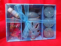 Набор с аромалампой, свечами,маслами и палочками