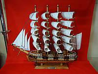 Корабль-парусник SEMON BOLIVAR большой из дерева. Статуэтка.