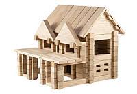 """Конструктор деревянный - """"Домик с балконом"""" для детей"""