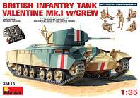 Танк VALENTINE Mk.I 1/35 MiniART 35116