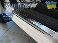 Накладки на пороги Volkswagen Amarok 2010+