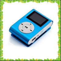 Плеер с радио,MP3 металлический с экраном и клипсой