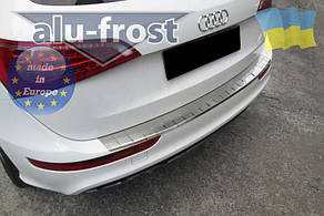 Накладка на бампер с загибом для Audi Q5 2008+ (DOUBLE)