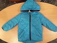 Демисезонная куртка-парка для мальчика голубая