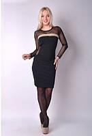 Женское черное  платье с сеткой 42-44р
