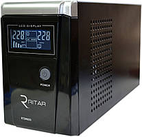 ИБП RITAR RTSW-500 (300Вт) LCD, для котла, чистая синусоида, внешняя АКБ