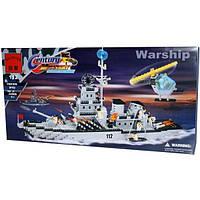 Конструктор Brick 112 Военный корабль, 970 деталей