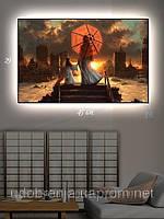 Светящаяся картина (ночник), 29х45см, Пейзаж Японии, Киев