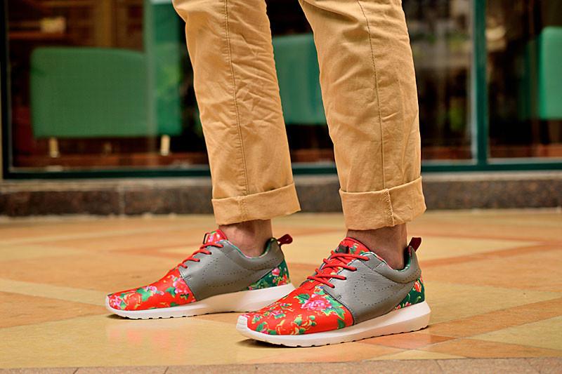 Кроссовки женские Nike Roshe Run / RRW-158 (Реплика)
