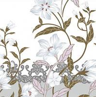 Ткань бязь набивная Cotton 8134-10, 100% хлопок