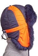 Зимняя шапка для мальчика натуральный мех