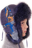Зимняя шапка ушанка натуральный мех