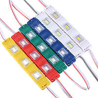 LED модуль SMD5730 1W 3Led с линзой 12V Желтый (закрытый корпус) BIOM